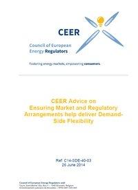 CEER Advice on Ensuring Market and Regulatory Arrangements help deliver Demand-Side Flexibility