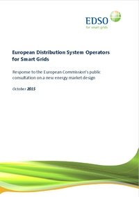 EDSO response to the European Commission's public consultation on a new energy market design