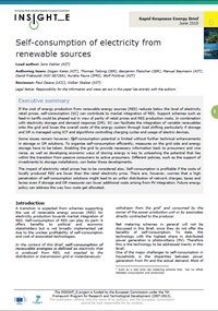 Self-consumption of electricity from renewable sources
