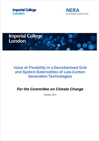Value of flexibility in a decarbonised grid and system externalities of low-carbon generation
